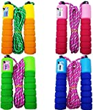 Toyshine Automatic Counting Adjustable Skipping Rope with Comfortable Handles, Pack of 4, SSTP