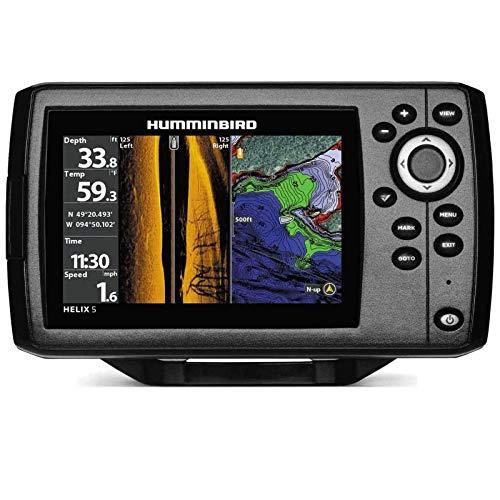 Humminbird Echolot GPS Plotter mit Geber - Helix 5 Chirp GPS SI G2 Side Imaging