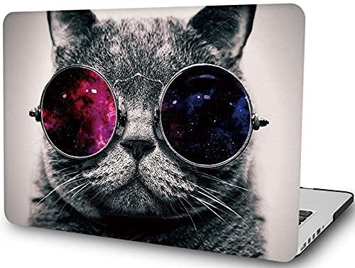 Funda para ordenador portátil compatible con MacBook Retina de 12 pulgadas (2017 2016 2015 lanzamiento A1534), LYMGG Carcasa rígida de plástico - Cool Cat