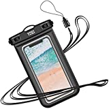 YOSH Waterproof Phone Pouch Waterproof Case Cell phone Dry Bag Underwater Pouch Compatible with iPhone 11/X/8 Galaxy S10/S9 Google Pixel 4 up to 6.8'