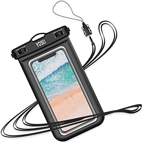 YOSH Waterproof Phone Pouch Waterproof Case Cell phone Dry Bag Underwater Pouch with Neck Strap Compatible with iPhone 11 pro Max Xs X 8 7 6 Plus Galaxy S10 S9 S8 Note 5 Google Pixel 4 up to 6.5""