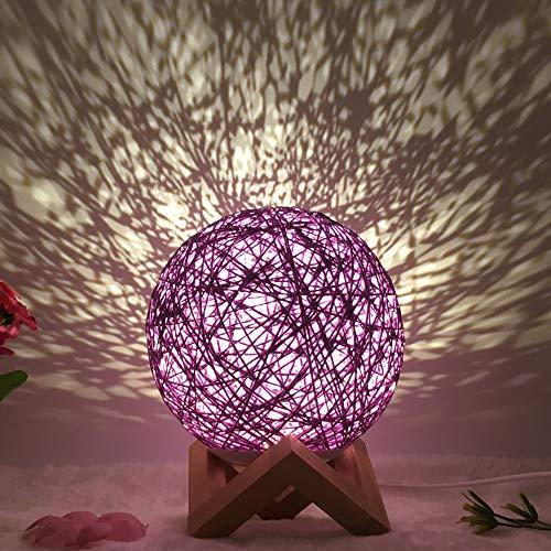 YYQX Nachttischlampe, Atmosphärenlampe, am besten für Männer, Frauen, Jugendliche, Kinder, Kinder Nachtlicht Lila A. 15CM