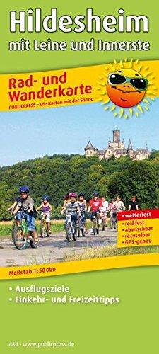 Hildesheim mit Leine und Innerste: Rad- und Wanderkarte mit Ausflugszielen, Einkehr- & Freizeittipps, wetterfest, reissfest, abwischbar, GPS-genau. 1:50000 (Rad- und Wanderkarte / RuWK)