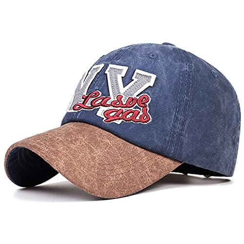 Gorra de béisbol Moda Gorra de Hombre Salvaje Gorras de Hip-Hop Sombrero de papá de algodón Bordado NY Sombreros de Sol de Verano al Aire Libre para Mujer Gorra de papá Ajustable