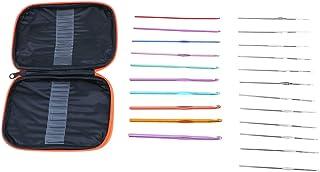 NUOBESTY 22 Pièces Crochet Crochet Ensemble Aiguilles Émoussées Fil Aiguilles à Tricoter Outils de Couture Fournitures de ...