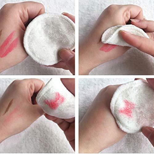 Lurrose 16 Stks Make-up Remover Pads Wasbare Zachte Herbruikbare Huidverzorging Verpleegdoek voor Vrouwen