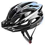 JBM Adult Cycling Bike Helmet Specialized for Men Women Safety Protection CPSC Certified Adjustable Lightweight Helmet with Reflective Stripe and Removal (Black Blue, Large)