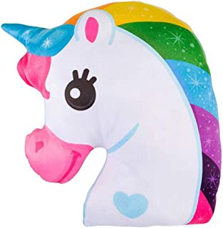 ArtCreativity 15 Inch Unicorn Magical Plush Pillow - Soft and Cuddly Rainbow Color Pillow for Kids - Home Decor, Birthday ...