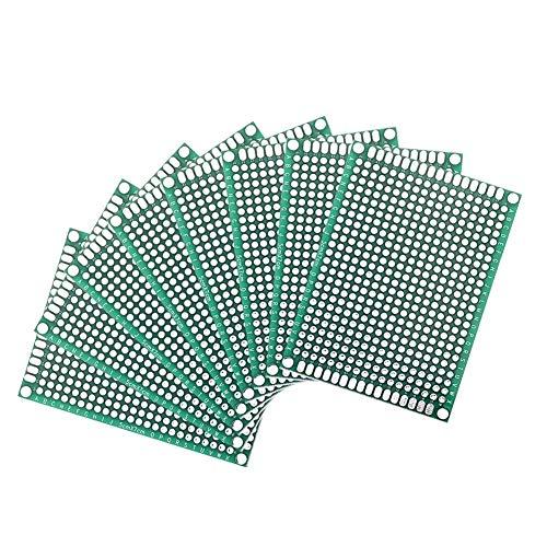 Busirsiz 36pcs Doble Cara PCB Junta Prototpe Kit 5 Tamaños Universal de Circuito Impreso Placa protoboard por DI Soldadura Proyectos electrónicos Herramientas de la carpintería