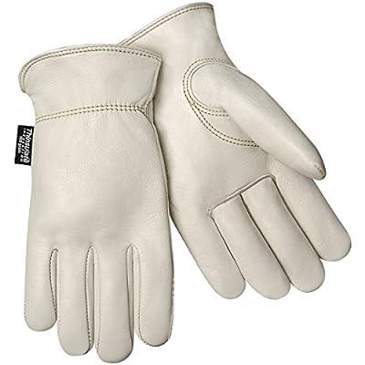 Steiner Winter Work Gloves, Individual Grain Cowhide, Fleece Lined, Shirred Wrist, Keystone Thumb