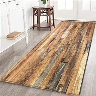 Kitchen mat - Wood Grain Printed Floor Mat Kitchen Non Slip Floor Mats for Living Rooms Door Mats Entrance Decor Floor Rug Carpet (50x80cm, 4)