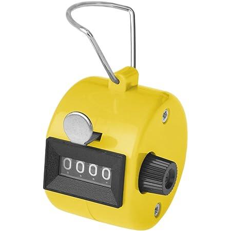 GOGO カウンター 数取器 ハンドヘルド計数器 デジタル計算 4桁の数字 学校スポーツイベント スコアカウンター ABS製 - イエロー