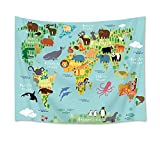 LB 世界地図タペストリー 動物たち �