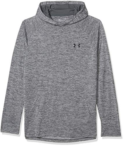 Under Armour Men's Tech 2.0 Hoodie , Pitch Gray (013)/Black , Large