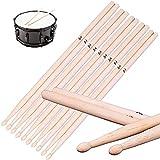 bacchette batteria, 5 paia 5a bacchetta tamburo, bacchette per batteria in legno d'acero, bacchette di acero, percussioni per batterista praticante del principiante(41cm/16.14in)