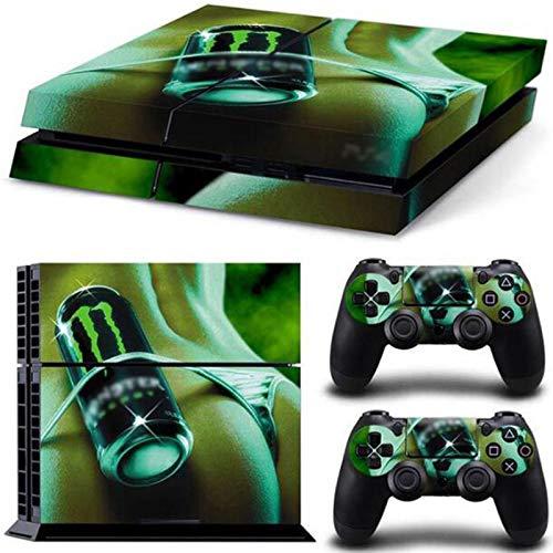 YWZQ per PS4 Versione Originale Adesivo per Skin Adesivo per Playstation 4 Eco-Friendly e Non tossico Console Vinile e Controller Pellicola Protettiva della Pelle,B