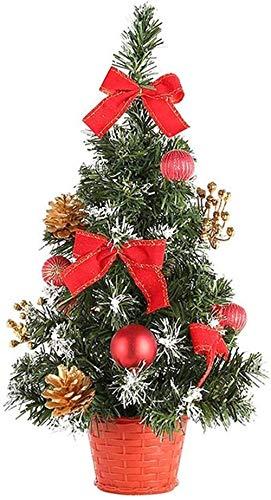 Wall mount Arbol de Navidad Árbol de Navidad Mini Escritorio del árbol de Navidad Chucherías Rojas de Navidad, Decorado de los Conos Arcos, Bolas Decorativas Utenciles de Navidad (Color : Red)