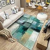 Liquidacion Alfombras verde Sala de estar alfombra verde retro antiguo patrón suave alfombra antideslizante Alfombra Grande Infantil Los 200X300CM Alfombras De Habitacion Juvenil 6ft 6.7''X9ft 10.1''