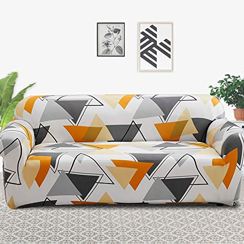 ASCV Fundas de sofá elásticas universales para Sala de Estar sofá Toalla Funda de sofá Antideslizante Funda de sofá elástica A8 4 plazas
