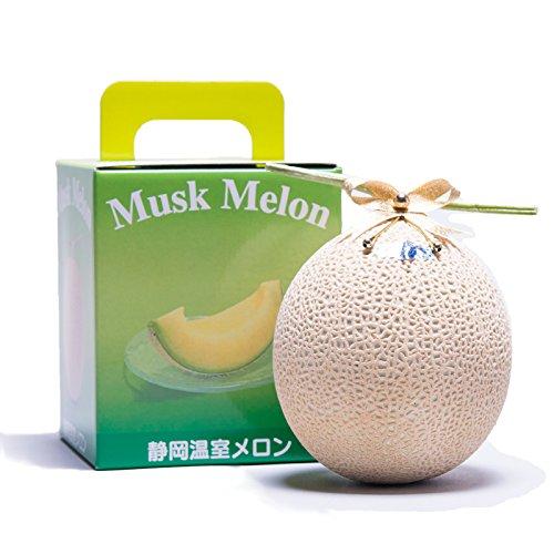 メロー静岡 クラウンメロン 最高級 Lサイズ 山 専用化粧箱入り〔1.4kg〕