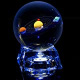 ifolaina claro sistema Solar 80mm bola de cristal con soporte