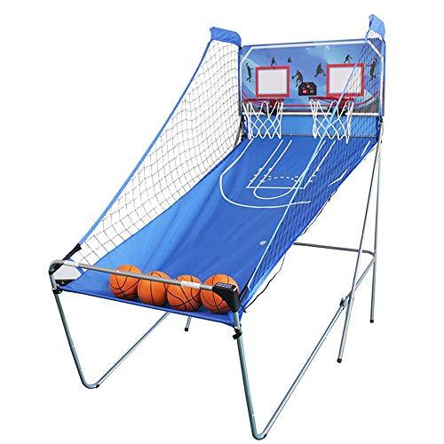 SONGYU Doppelt Basketballständer Größe 210x205x110cm Basketballkorb Automatische Wertung Höhe 210cm Mit Ball Und Pumpe Mit Elektronischer Partitur Kinder Spaß