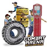 Combat Arena Inflatable Battle Obstacles Set - Compatible with Nerf, Laser Tag, Dart Guns, and Water Gun Games...