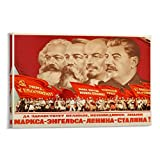 XIAOGANG Marx Engels Lenin Stalin's Soviet Propaganda Poster 24x36 Inches Canvas Art Poster and Wall Art Picture Print Modern Family Bedroom Decor Posters 08x12inch(20x30cm)
