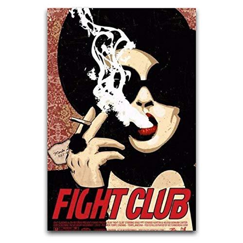 WPQL Marla Sänger Fight Club Poster auf Leinwand, Kunstdruck, moderne Familie, Jungen, Schlafzimmer, Dekoration, Poster, 40 x 60 cm