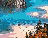 Wcyljrb Kit De Pintura Digital De Bricolaje Lago Tranquilo Adult Digital Painting Suite Niños Artista Decoración Del Hogar 16 X 20 Pulgadas (Sin Marco)