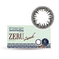 カラコン 2ウィーク ruthchiffon ルースシフォン ゼル 2週間 1箱6枚入 ZERU. ブラック(-1.50)