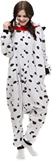 BOHOME Spotty Dog Onesie Dalmatian Costume for Women Men Adult Animal Pajamas Halloween Christmas