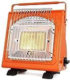 WSJTT Calefactor Calentador de Patio portátil Radiador de calefacción multifunción Estufa de Camping portátil para Camping/Interior/Exterior 1700W Naranja