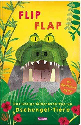 """FLIP FLAP Das lustige Bilderbuch-Pop-up """"Dschungel-Tiere"""": Mix-Max und Pop-up-Buch für Kinder"""