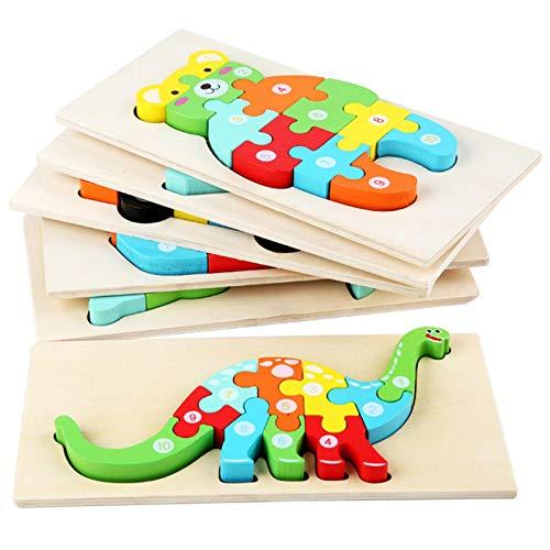 Werstand D Animal Puzzles De Madera para Bebé Infantiles Puzzles De Madera Juguetes Montessori Juguete Educativo Regalo para 1 2 3 4 5 Años Niños Niñas 215x107x35cm judicious