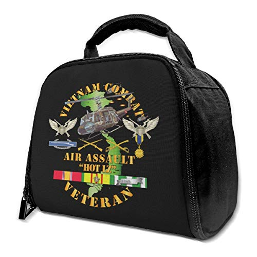 NE Vietnam Combat Veteran W Helicopter Assault Isolierte Tasche Lunch Bag Isolierte Lunch Box Einkaufstasche Kühltasche Für Picknickarbeiten