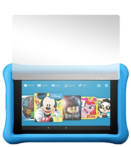 Slabo 2 x Displayschutzfolie für Amazon Fire HD 8 Kids Edition (7. Generation - 2017) Displayschutz Schutzfolie Folie Crystal Clear KLAR