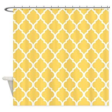 Lemon Yellow Quatrefoil Pattern - Shower Curtain by Vandarllin£¨TM) (60  x 72 )