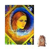 Viajes trascendentes Oracle Tarjetas, con Bolsa de Almacenamiento de Terciopelo,Transcendent Journeys Oracle Cards,Tarot Cards Deck Game