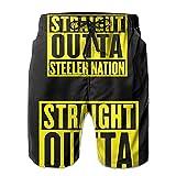 LLiopn Straight Outta Steeler Nation Mens Swim Trunks Quick Dry...