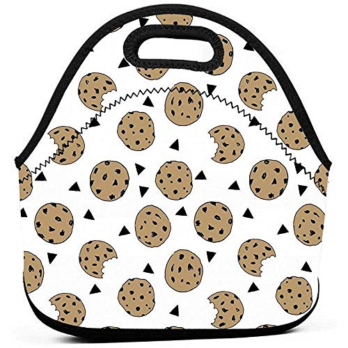 Lunchbox Cookies Voedsel Chocolade Chip Koekjes Voedsel Container Organizer voor Mannen & Vrouwen Jongens & Meisjes, Werk/School/Maaltijd Prep Lunch Houder Premium Handtas Herbruikbare Dranken Houder