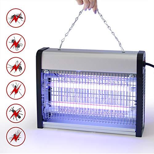 LZS Lampara Mosquitos Electrico - Trampa de Mosquitos con Luz UV - Mata Mosquitos para Dormitorio, Cocina, Oficina y Hogar