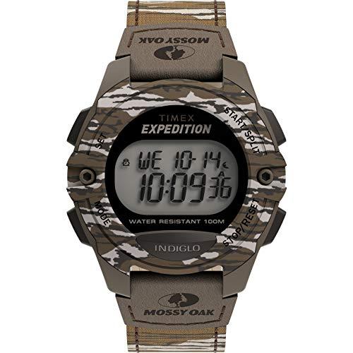 Timex x Mossy Oak Men's Expedition Digital CAT 40mm Watch – Original Bottomland Camo Fabric Strap