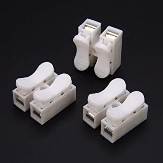 Zerama 10PCS PCT-213 PCT213 Universal Compact Wire Wiring Connector 3 pin Conductor Terminal Block and Lever