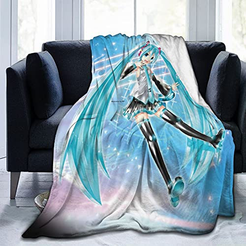 Hats-UNE Mi-Ku Anime Soft Blanket Fuzzy Warm Throws for Winter Bedding, Couch and Plush House Warming Gift for Adults & Kids 50'X40'