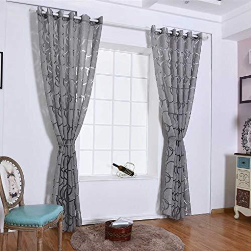 Eastery Kreis Blase Schere Durchlässiges Fenster Vorhang Balkon Wohnzimmer Semi Sheer Einfacher Stil Jalousie Tür Raumteiler Bubbles Vorhänge Beige 100 * 250Cm (Color : Grau, Size : 100 * 250Cm)