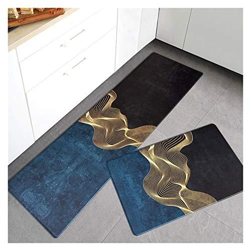OMING Alfombra de cocina de PVC para el suelo de la cocina, alfombra ligera de lujo, alfombra para el hogar, alfombra para el suelo, dormitorio, alfombra de suelo (color: Q, tamaño: 45 x 120 cm)