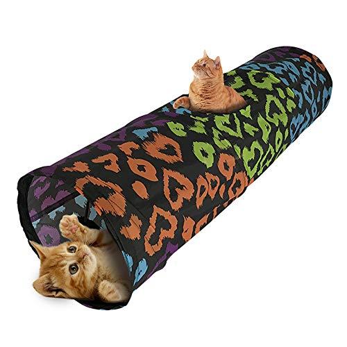 Souarts Katzentunnel Katzenspielzeug Katze Tunnel Pet Cat Play Tunnel Tube zusammenklappbar Kätzchen Spielzeug Spieltunnel Spiel Tunnel