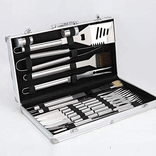 51v1vBzNLHL - Knoijijuo Werkzeugablage 24Pc Grill, Grillzubehör Edelstahl Aluminium Verpackt, Vollständigen Satz Von Utensilien Für Den Grill