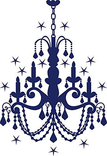 GRAZDesign Wandtattoo Steine selbstklebend Kronleuchter, Swarovski Aufkleber Deckenlampe, Wandtattoo Schloss Kristall / 83x57cm